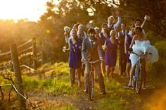 a bicycle wedding? yes please