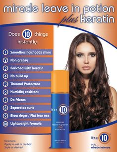 Miracle Leave-In Potion Plus Keratin   Its A 10 Hair Care
