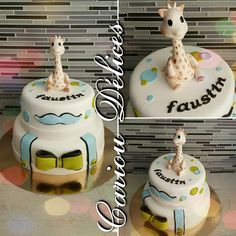 Gâteau Sophie la girafe modelage réalisé par mes soins