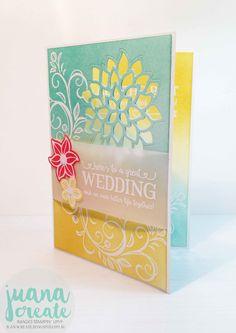 Juana Ambida | Falling Flowers & Better Together Wedding card | #CTC001…