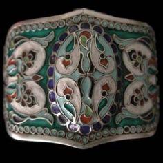 Uzbekistan | Bracelet from Bukhara. Silver and enamel