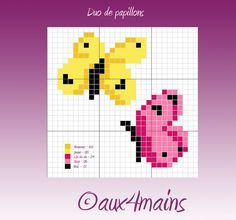 Butterflies hama beads pattern by aux4mains