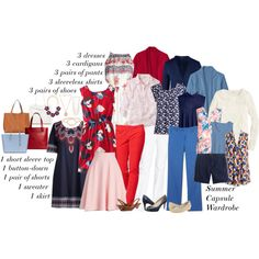 8 week summer capsule wardrobe by kristin727 on Polyvore featuring moda, Boden, J.Crew, L.L.Bean, Lands' End, NYDJ, Talbots, Nine West, Lucky Brand and Sole Society