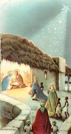 .Three Wise Men bringing presents to Baby Jesus.......!!!!!!!