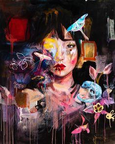 Mind On Fire — Dimitra Milan Painting Inspiration, Art Inspo, Dimitra Milan, Surealism Art, Art Room Posters, Cobra Art, Surreal Artwork, Arte Sketchbook, Portrait Art
