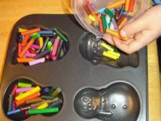Crayon ornaments. 230° for 15 min