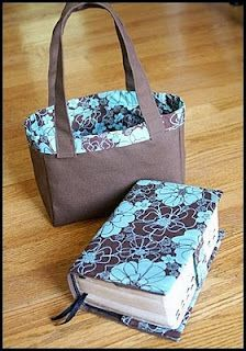 New Covers and Totes! Sewing Hacks, Sewing Tutorials, Sewing Crafts, Sewing Projects, Sewing Patterns, Scripture Case, Bible Bag, Fabric Book Covers, Bible Covers