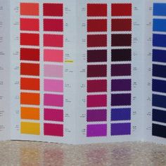 Carvico Matt Tricot - Folding Swatch Book - All Colors   Solid Stone Fabrics - We are pleased to announce FREE USA/Domestic shipping on all of our Color Cards & Swatches! #solidstonefabrics #fabric #swatches #fashion #cheer #dance #recital #DIY #crafts #fabricswatches #fabricsamples #freeshipping #carvico