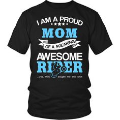 """Proud Mom of An .... Available in T-Shirt, Hoodie and Long Sleeve. Free Shipping.    http://thingsiwannasay.com/products/proud-mom-of-an-awesome-motocross-rider-t-shirt?utm_campaign=social_autopilot&utm_source=pin&utm_medium=pin"
