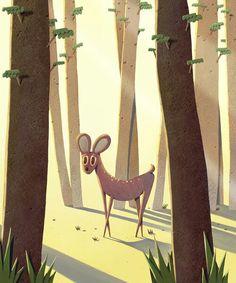 사슴일러스트
