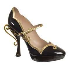 A Woman and her Shoes.: Miu Miu Patent Leather Tea-Cup Heel Pumps