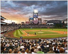 Coors Field, Denver. Home of the Rockies. Saw Dante Bichette hit a Grand Slam here..