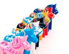 Colorful dalahorses