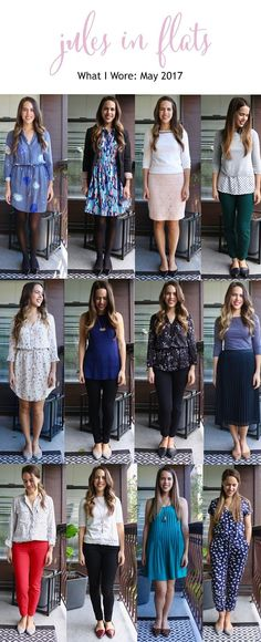 Jules in Flats - Monthly Outfit Roundup May 2017