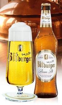 Bitte ein Bit ~ Bitburger Premium Pils ~ German Beer - All I can think of is X-Men: First Class :P