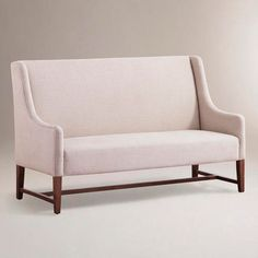 Linen Hayden Dining Banquette - modern - dining chairs and benches - World Market