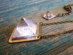 crystal pyramid necklace by Gather