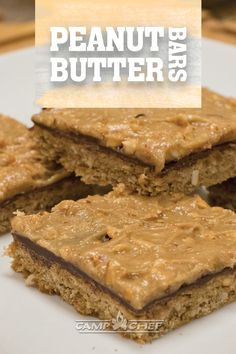 These peanut butter bars are so easy to make and taste so good! A sweet peanut butter bar topped with decadent milk chocolate. One of the best combinations to make this super delicious treat! Best Dessert Recipes, Easy Desserts, Bar Recipes, Chef Recipes, Cookie Cake Pie, Cake Cookies, Yummy Treats, Sweet Treats, Candy Bar Cookies