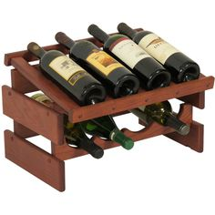 Wooden Mallet Dakota 8 Bottle Wine Rack found on Polyvore