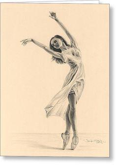 Graceful Dancer Greeting Card by Tonya Butcher