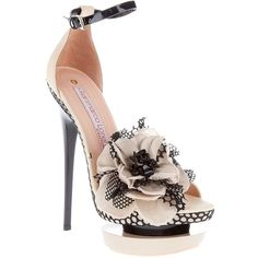GIANMARCO LORENZI Corsage detail sandal/heel. I adore these shoes!! However, $900 isn't exactly in my budget and 6-7 inch heels are too high but I still adore these!!!