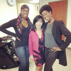 With Glenda and Kaity Tong (Anchor) at WPIX news 11.
