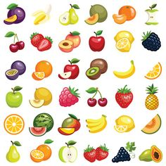Learn What 4 Berries Can Do For Your Health And Wellness Fruit Icons, Food Icons, Healthy Prepared Meals, Stickers Cool, Crochet Bedspread Pattern, Fruit Vector, Fruits Images, Christmas Card Crafts, Nutrition Bars