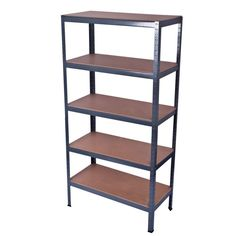 5 Tier Heavy Duty Boltless Industrial Metal Garage Shelving Racking Storage Unit