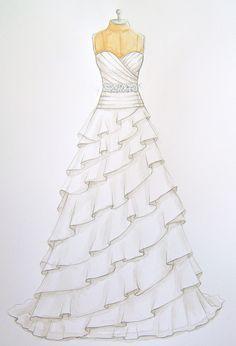 Forever Your Dress / Custom Wedding Dress Illustrations