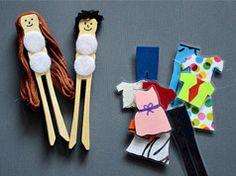 Muñecos para vestir con pinzas y velcro