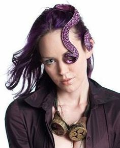 Steampunk Tentacle Hair Piece Set Bride of Cthulhu by PoisonInc, $30.00  Oddly fascinating!