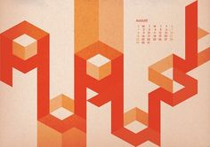 Hard to Read Calendar - 2010 on Typography Served