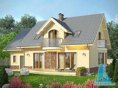 Proiect de casa cu parter  mansarda si garaj -100791