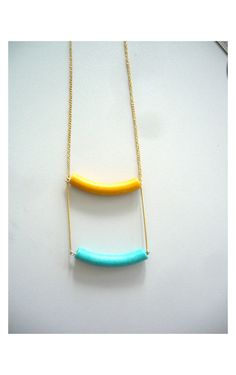 Hey, I found this really awesome Etsy listing at https://www.etsy.com/listing/84891420/tribal-yellow-necklace-with-aqua