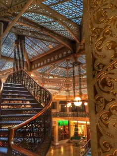 Second floor staircase - Rookery Chicago