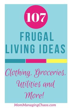 The Ultimate Guide to Practical Frugal Living Tips Looking for frugal living ideas? Look no further than this extensive list of ways to save you money on groceries, clothing, utilities and more! Living On A Budget, Frugal Living Tips, Frugal Tips, Ways To Save Money, Money Tips, Money Saving Tips, Money Budget, Money Savers, Groceries Budget