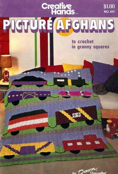Picture Afghans to crochet in granny squares by amydscrochet