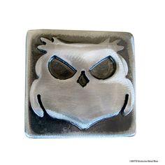 Wisecracker the Outlaw Owl Belt Buckle / Handmade