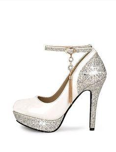 ShangYi Scarpe Donna - Scarpe col tacco - Matrimonio   Formale   Serata e  festa - Tacchi   Plateau   Punta arrotondata - A stiletto - Finta pelle  631e3aee9fc