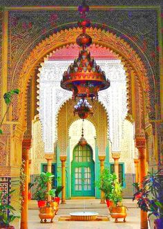 This image is of El Hank, Casablanca, Morocco.   It is just one of the many beautiful examples of Moroccan architecture.