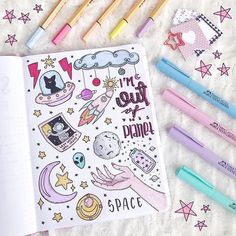 space doodles for bullet journal space doodles for bullet journa. space doodles for Bullet Journal Inspo, Bullet Journal Aesthetic, Bullet Journal Notebook, Bullet Journal 2019, Bullet Journal Ideas Pages, Drawing Journal, Doodle Art Journals, Notebook Doodles, Notebook Art