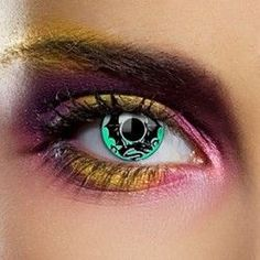Green Emerald Dragon Colored Contact Lenses (1 Year)