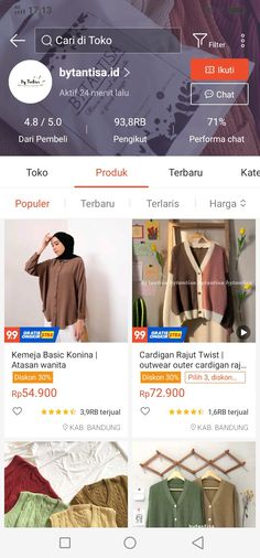 Ootd Hijab, Hijab Chic, Best Online Clothing Stores, Online Shopping Clothes, Korean Fashion, Nct, Skincare, Fashion Dresses, Shops