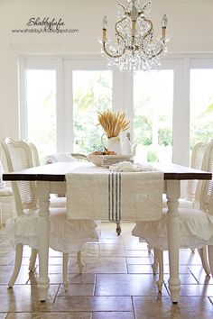 Early Fall Vignettes In The Dining Room At Shabbyfufu...Styling Tips