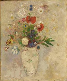 unforgettable-winter: Odilon Redon Vase of flowers, 1901