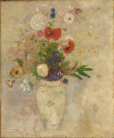 unforgettable-winter: Odilon Redon Vase of flowers, 1901