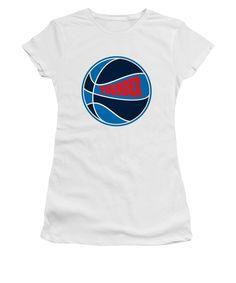 Thunder Women's T-Shirt (Junior Cut) featuring the photograph Oklahoma City Thunder Retro Shirt by Joe Hamilton