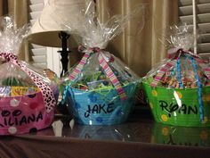 Dollar Tree buckets filled with Easter goodies! Thankful for my Cameo!❤️❤️