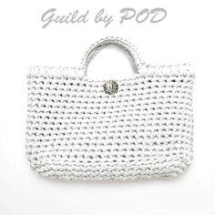 Guild by POD・毛糸ズキ!【無料編み図】TシャツヤーンSmooTeeを使ったシンプルすぎるトートバッグの編み方