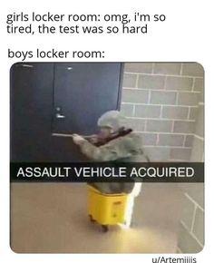 'Boys Locker Room' Memes Are Perfect Sh*tposts Filled With N.- 'Boys Locker Room' Memes Are Perfect Sh*tposts Filled With Nostalgia – 'Boys Locker Room' Memes Are Perfect Sh*tposts Filled With Nostalgia – - 9gag Funny, Crazy Funny Memes, Really Funny Memes, Stupid Funny Memes, Funny Laugh, Funny Relatable Memes, Funny Texts, Funniest Memes, Funny Stuff